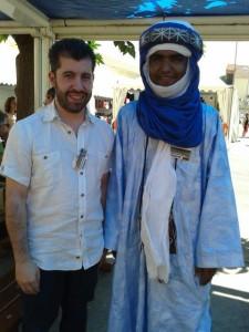 Simone Maulu con Moussa Ag Assarid