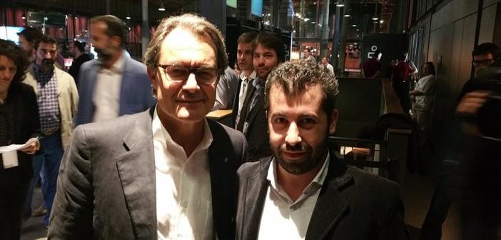 Artur Mas - Presidente della Catalunya e Simone Maulu delegato di iRS