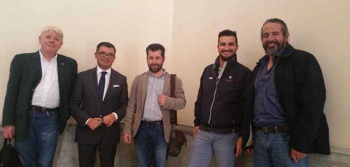 incontro all'università di Sassari con il Prorettore Omar Chessa.