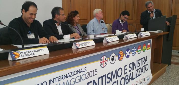 intervento di Vincenzo Monaro rappresentante della Confederazione Sindacale Sarda — con Carlo Vincenzo Monaco
